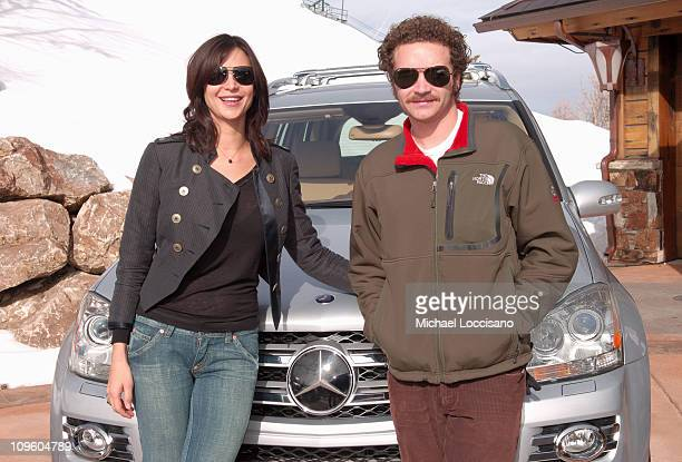 Catherine Bell and Danny Masterson with MercedesBenz GL class at The North Face House *Exclusive Coverage*