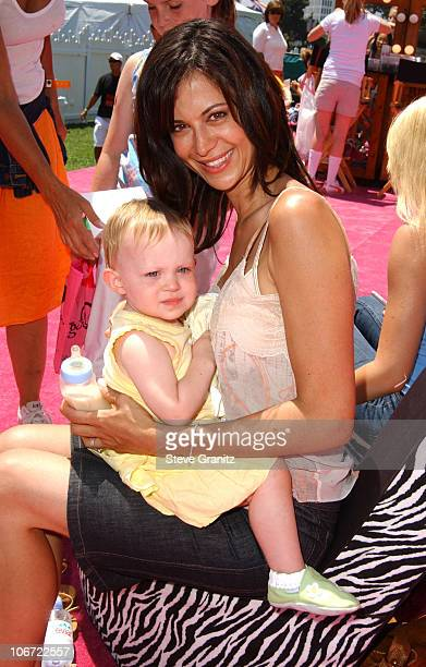 Catherine Bell and daughter Gemma at the 2004 Target A Time for Heroes to Benefit the Elizabeth Glaser Pediatric AIDS Foundation