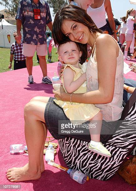 Catherine Bell and daughter Gemma at the 2004 Target A Time for Heroes Celebrity Carnival to benefit the Elizabeth Glaser Pediatric AIDS Foundation