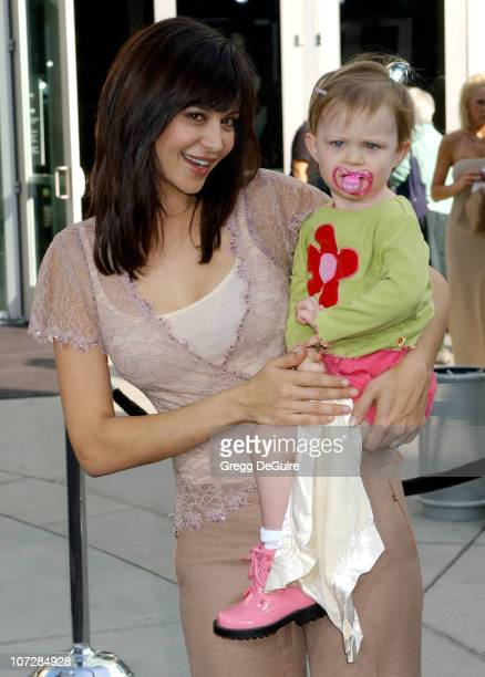Catherine Bell and daughter Gemma during Lemony Snicket's A Series of Unfortunate Events Los Angeles Premiere Arrivals at Cinerama Dome in Hollywood...