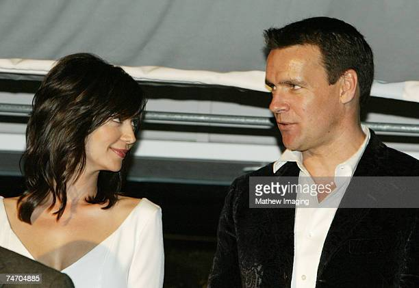 Catherine Bell and David James Elliott at the JAG Celebrates 200th Episode and Nine Successful Seasons at The Mondrian/Asia de Cuba in West Hollywood...