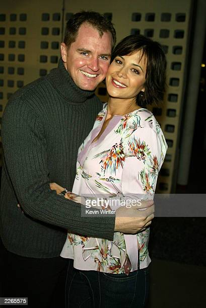 Catherine Bell and husband Adam Beason at the premiere of The Lord of the Rings The Two Towers at the Cinerama Dome Theatre and afterparty at the...