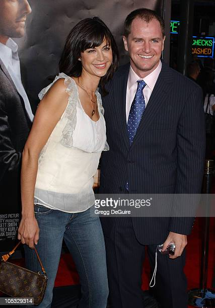Catherine Bell and husband Adam Beason during 'Collateral' Los Angeles Premiere Arrivals at Orpheum Theatre in Los Angeles California United States