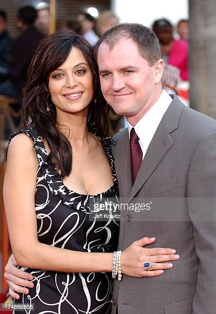 Catherine Bell and husband Adam Beason during The World Premiere of Bruce Almighty at Universal Amphitheatre in Universal City California United...