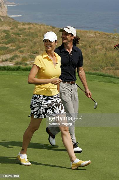 Catherine Bell and Kenny G during 8th Annual Michael Douglas Friends Celebrity Golf Tournament Presented by Lexus at Trump National Golf Club in Los...