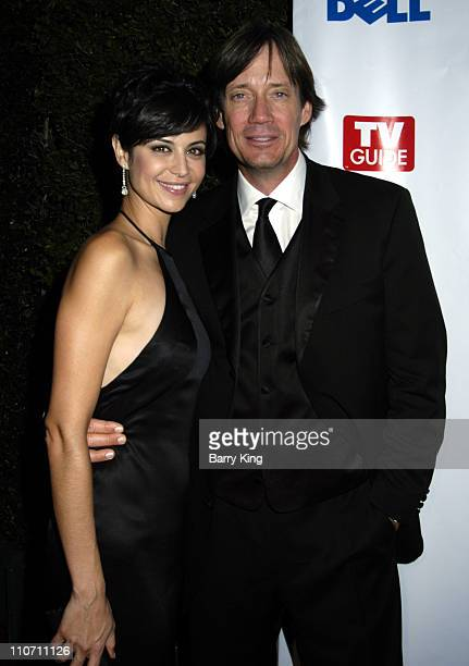 Catherine Bell and Kevin Sorbo during The 56th Annual Primetime Emmy Awards - TV Guide After Party at TV Guide Central in West Hollywood, California,...