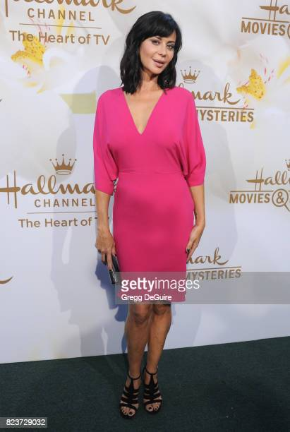 Catherine Bell arrives at the 2017 Summer TCA Tour Hallmark Channel And Hallmark Movies And Mysteries at a private residence on July 27 2017 in...