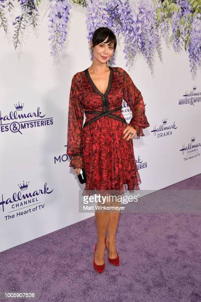 Catherine Bell attends the 2018 Hallmark Channel Summer TCA at Private Residence on July 26 2018 in Beverly Hills California