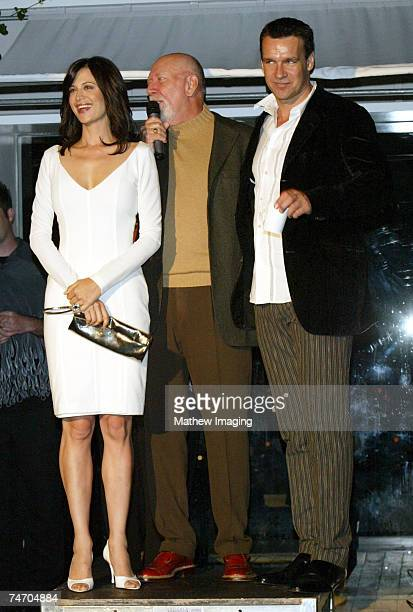 Catherine Bell Donald P Bellisario and David James Elliott at the JAG Celebrates 200th Episode and Nine Successful Seasons at The Mondrian/Asia de...