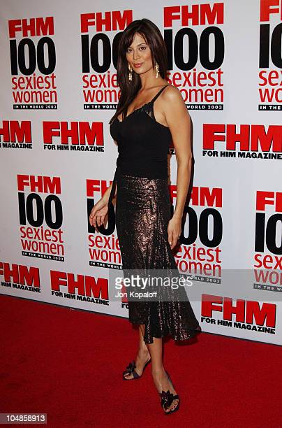 Catherine Bell during FHM's '100 Sexiest Women in the World' Party CoSponsored by Smirnoff Vodka at Raleigh Studios in Hollywood California United...