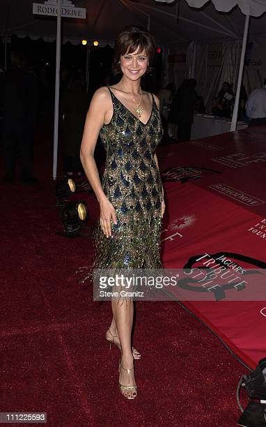Catherine Bell during Marc Anthony Pilots Jaguar's Tribute To Style March 18 2001 at Barker Hangar in Santa Monica California United States