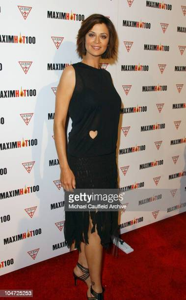 Catherine Bell during Maxim Hot 100 Party Arrivals at Yamashiro in Hollywood California United States
