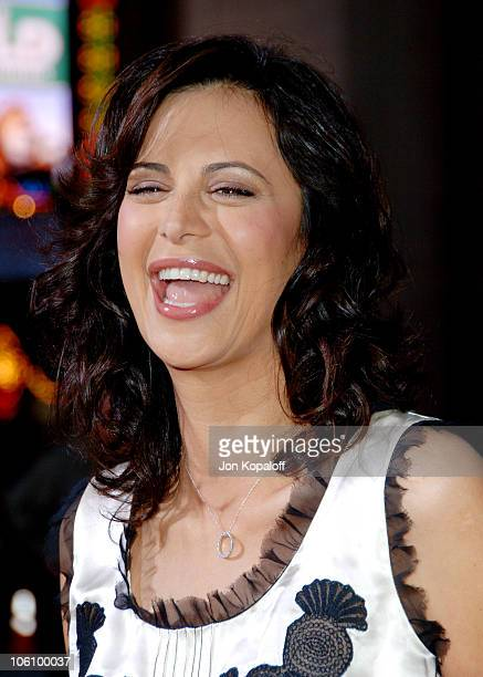 Catherine Bell during Mission Impossible III Los Angeles Fan Screening Arrivals at Chinese Theater in Hollywood California United States
