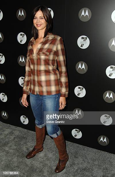 Catherine Bell during Motorola's Seventh Anniversary Party to Benefit Toys for Tots Arrivals at American Legion Hall in Los Angeles California United...