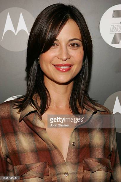 Catherine Bell during Motorola's Seventh Anniversary Party to Benefit Toys for Tots Red Carpet at American Legion in Los Angeles California United...