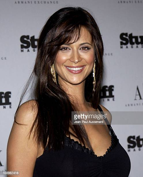Catherine Bell during Stuff Magazine Armani Exchange Beachdance Party Arrivals at Astra West in West Hollywood California United States