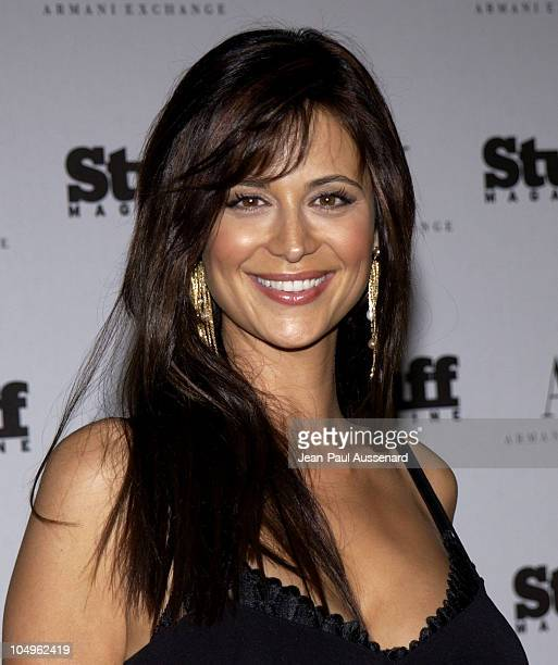 """Catherine Bell during Stuff Magazine & Armani Exchange """"Beachdance"""" Party - Arrivals at Astra West in West Hollywood, California, United States."""