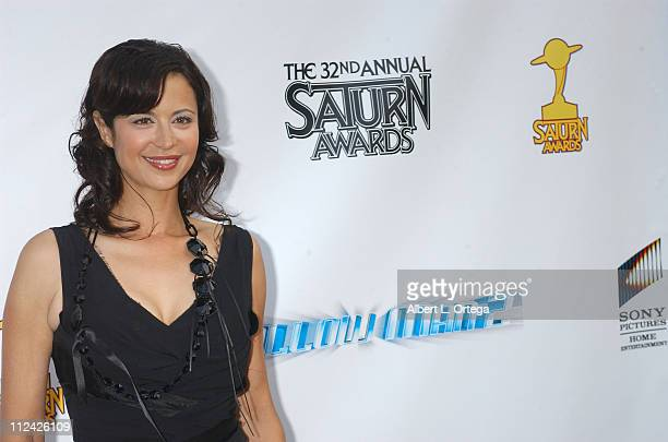 Catherine Bell during The 32nd Annual Saturn Awards Arrivals at The Universal Hilton in Universal City CA United States