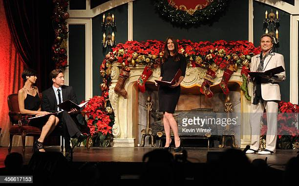 """Catherine Bell, Mike Falkow, Michelle Stafford and Martin Kove perform onstage during the Church of Scientology Celebrity Centre's 21st """"Christmas..."""