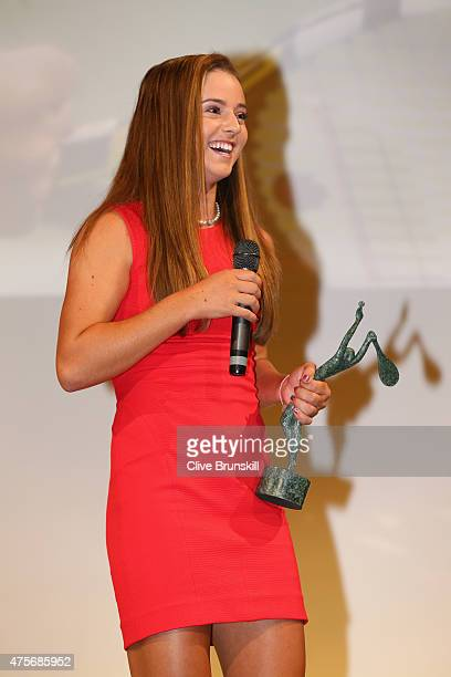 Catherine Bellis of the United States poses at the ITF World Champions Gala Dinner after day ten of the 2015 French Open at Pavillon Cambon Capucines...