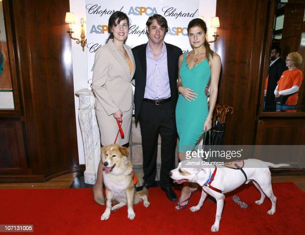 """Catherine Bove, GM of Chopard's New York, Lorenzo Borghese and Lake Bell with """"Mayer"""" and """"Jessie"""""""