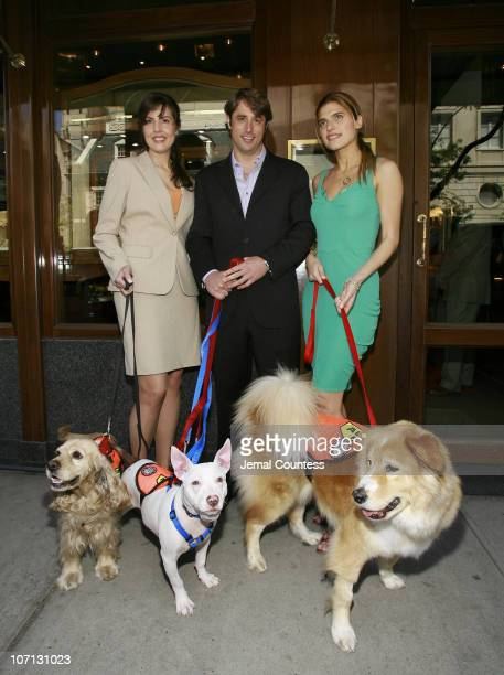 Catherine Bove, GM of Chopard's New York, Lorenzo Borghese and Lake Bell with 10th Annual ASPCA Ball contestants Ruppert, Turkey and Mayer
