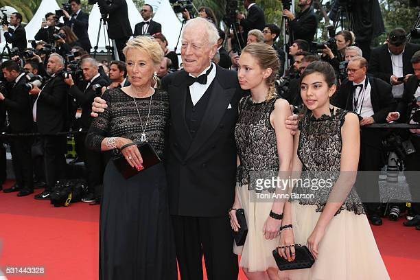 Catherine Brelet and Max Von Sydow attend a screening of The BFG at the annual 69th Cannes Film Festival at Palais des Festivals on May 14 2016 in...
