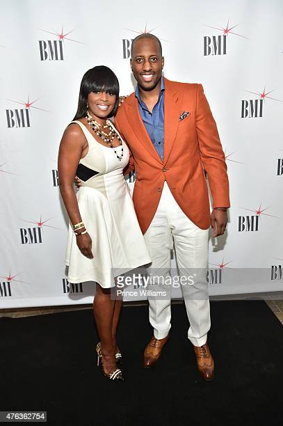 Catherine Brewton and Issac Carree attend BMI Gospel on the park brunch at Park Tavern on June 7 2015 in Atlanta Georgia