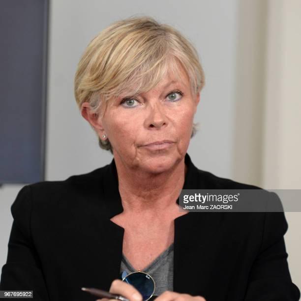 Catherine Casadeï directrice générale déléguée de la Foire de Marseille lors de la conférence de presse de la Foire internationale de Marseille le 14...