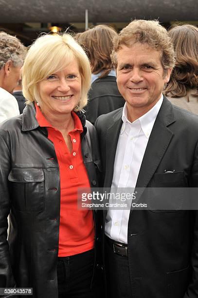 Catherine Ceylac and Claude Serillon at Roland Garros Village in Paris