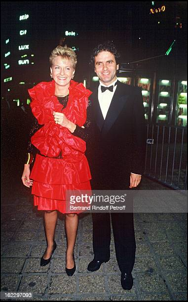 Catherine Ceylac and Claude Serillon at the 7 d'Or TV Awards Ceremony 1987