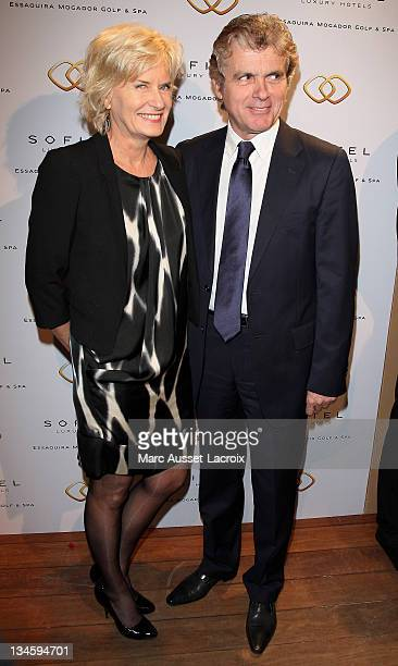 Catherine Ceylac and Claude Serillon attend the 'Sofitel Mogador Essaouira' Launch Party 'at Pavillon Lenotre on January 24 2011 in Paris France