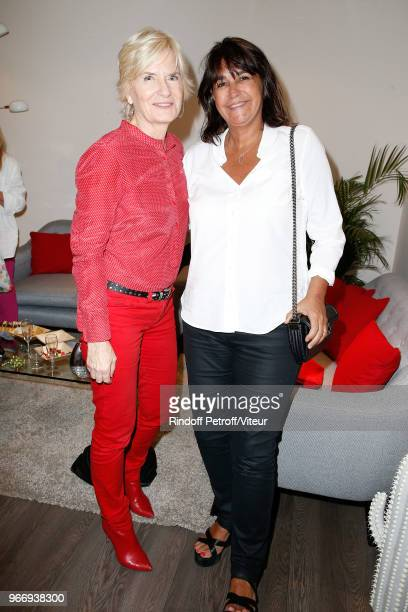 Catherine Ceylac and Valerie Expert attend Sans Moderation Laurent Gerra's Show at Palais des Sports on June 2 2018 in Paris France
