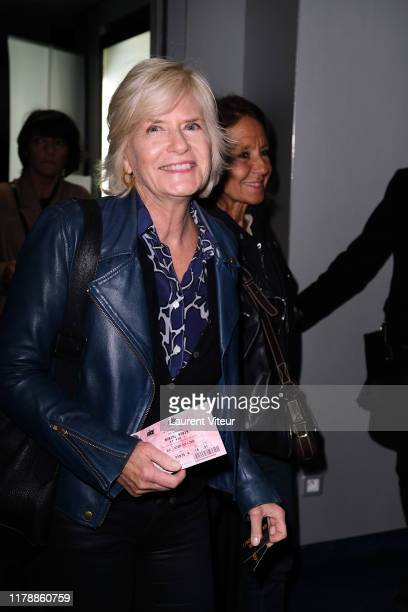 Catherine Ceylac attends the Et Pof Muriel Robin One Woman Show At Palais Des Sports on October 03 2019 in Paris France
