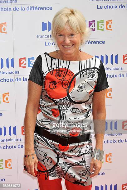 Catherine Ceylac attends the France Televisions press conference