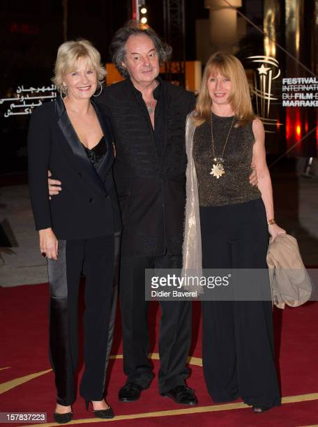 Catherine Ceylac French writer Gonzague Saint Brie and a friend attend the tribute to Jonathan Demme at 12th International Marrakech Film Festival on...