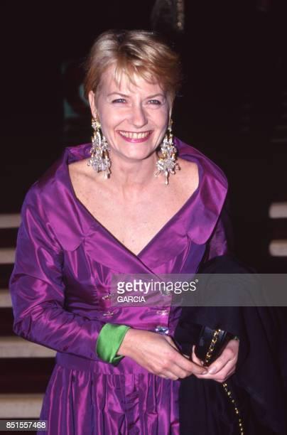 Catherine Ceylac lors de la cérémonie de remise des Sept d'Or à Paris le 18 janvier 1993 France