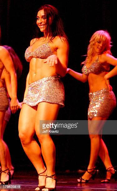 Catherine Chiarelli and Heidi Strobel during Reality Revue Burlesque Show August 7 2004 at Xanadu Showroom Trump Taj Majal in Atlantic City New...