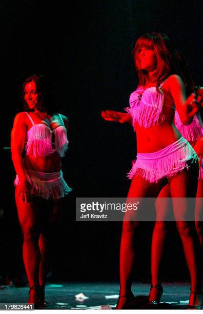 Catherine Chiarelli and Paige Jones during Reality Revue Burlesque Show August 7 2004 at Xanadu Showroom Trump Taj Majal in Atlantic City New Jersey...