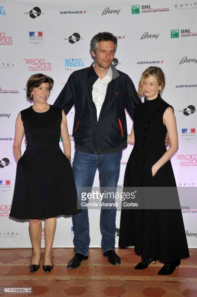 Catherine Colonna Thomas Kruithof and Alba Rorhwacher attend the 'RendezVous Nouveau Cinema Francais' Opening Ceremony In Romeon April 5 2017 in Rome...