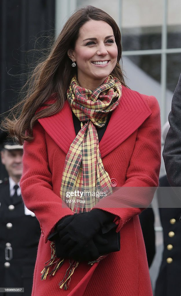 Catherine, Countess of Strathearn is seen during a visit to Dumfries House on March 05, 2013 in Ayrshire, Scotland. The Duke and Duchess of Cambridge braved the bitter cold to attend the opening of an outdoor centre in Scotland today. The couple joined the Prince of Wales at Dumfries House in Ayrshire where Charles has led a regeneration project since 2007. Hundreds of locals and 600 members of youth groups including the Girl Guides and Scouts turned out for the official opening of the Tamar Manoukin Outdoor Centre.