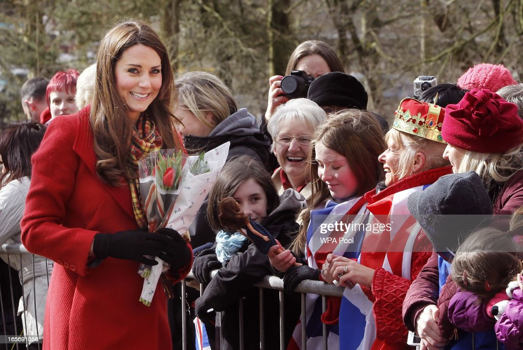 The Earl And Countess Of Strathearn Visit Scotland : News Photo