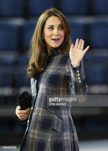 Catherine Countess of Strathearn visits the Emirates Arena on April 4 2013 in Glasgow Scotland The Emirates Arena will play host to several events at...