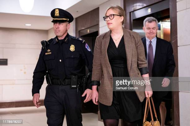 Catherine Croft a foreign Service officer and former Ukraine specialist at the National Security Council walks to the SCIF to testify in a deposition...