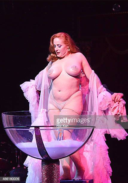 Catherine D' Lishperforms during the Cabaret New Burlesque Show at the Cirque D'Hiver on September 26 2014 in Paris France