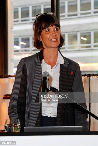 Catherine Davies attends a charity auction held at The Wigmore in partnership with the Royal British Legion to celebrate the release of 'Darkest...