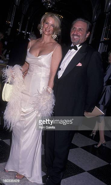 Catherine de Castelbajac and Ron Silver attend 16th Annual Rita Hayworth Alzheimer's Benefit Gala on October 11, 2000 at the Waldorf Astoria Hotel in...