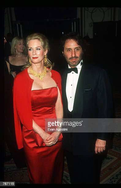Catherine De Castelbajac poses for a picture with actor Ron Silver February 4, 1999 at the Museum of Television and Radio annual Gala in New York...