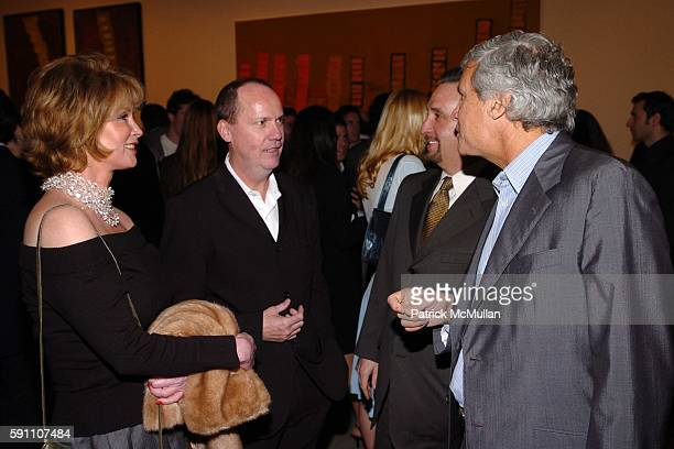 Catherine de Castelbajac, Richard Prince, Ron Silver and Larry Gagosian attend The Opening Reception of Richard Prince: Check Paintings at Gagosian...