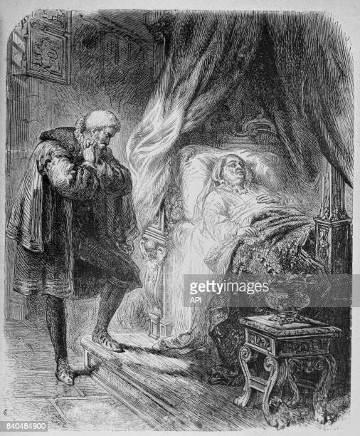 Catherine de Médicis sur son lit de mort à Blois, le 5 janvier 1589.